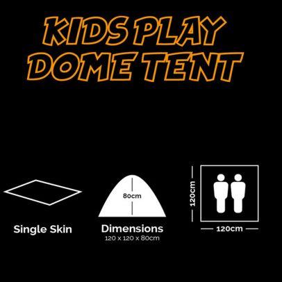 Детска палатка Play Dome 201809-01