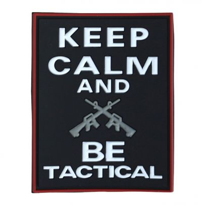 Гумена нашивка Keep Calm and Be Tactical 202421-01