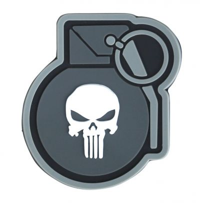 Гумена нашивка Punisher Grenade 202418-01
