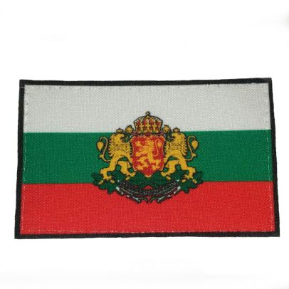 Нашивка българско знаме с герб 3/5 000213-01
