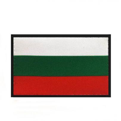 Нашивка с българско знаме с велкро 5х8 см 000209-01