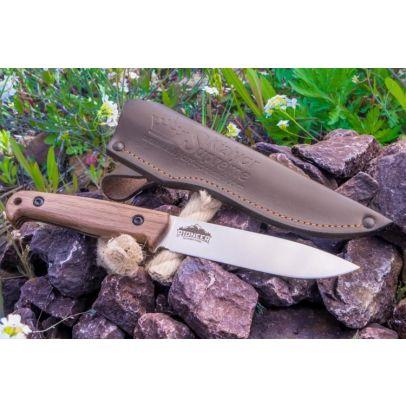 Бушкрафт нож Kizlyar Pioneer AUS-8 LightSW Walnut 201956-01