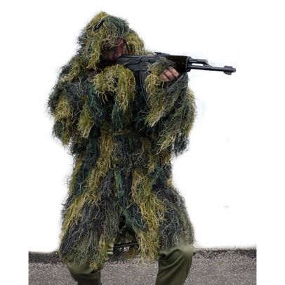 Маскировъчен костюм Гили тип Пончо Woodland 200199-01