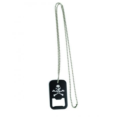 Плочка Dog tag с отварячка череп 200743-01