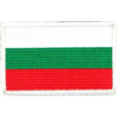 Нашивка с българското знаме с велкро 3х5 см 000211-01