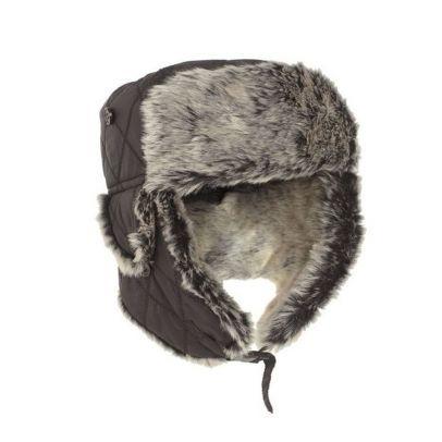 Зимна шапка ушанка с изкуствена козина 201642-01