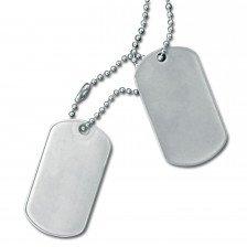 Американски Dog Tags медальони - хромирани