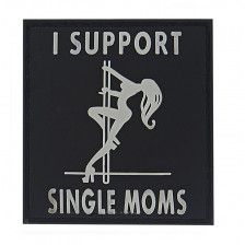 Гумена нашивка I Support Single Moms