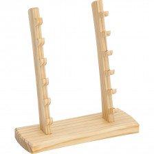 Дървена стойка за 6 ножа