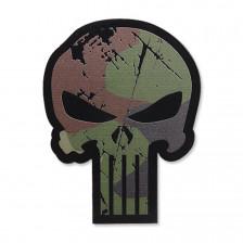 Нашивка Punisher Skull - woodland