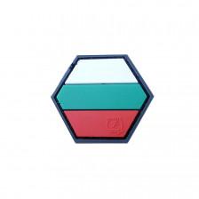 Гумена нашивка Българско знаме Hexagon