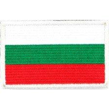 Нашивка с българското знаме с велкро - 3х5 см