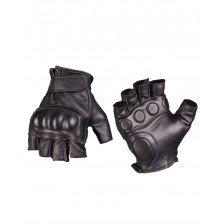 Кожени тактически ръкавици без пръсти Miltec
