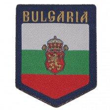 Нашивка български флаг с коронован лъв и надпис
