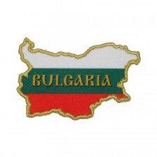 Нашивка картa на България с надпис