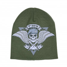 Плетена зимна шапка TF-2215 skull & wings