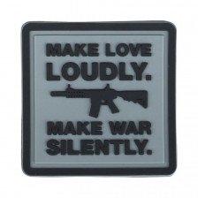Гумена нашивка Make Love Loudly