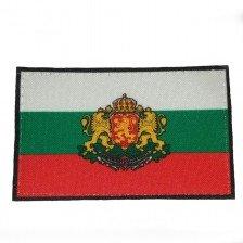 Нашивка с българско знаме и герб с велкро 5/8