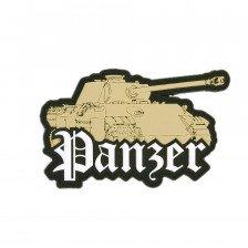 Гумена нашивка Panzer tank 3D