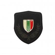 Нашивка с венец и метален щит българско знаме