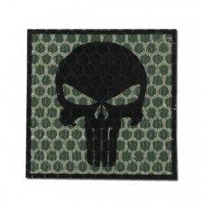 Нашивка Punisher - зелен