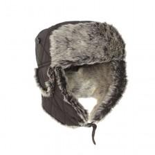 Зимна шапка ушанка с изкуствена козина
