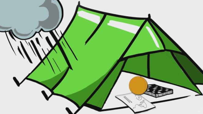 Палатка воден стълб